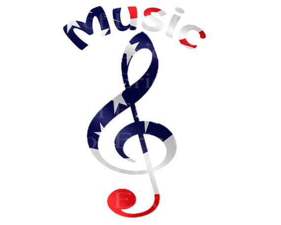 Music Notes Band Patriotic Birthday - Edible Cake and Cupcake Topper For Birthday's and Parties! - D22699