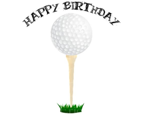 Golf Happy Birthday - Edible Cake and Cupcake Topper For Birthday's and Parties! - D22748