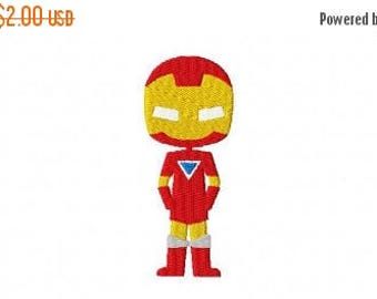 50% OFF - Ironman Inspired Machine Embroidery Design Multiple Formats Available - Instant Download
