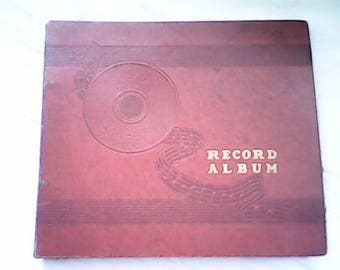 1940s RECORD ALBUM HOLDER Book 10 Sleeves For 78s