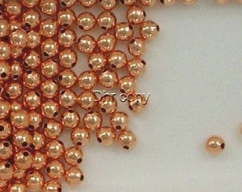 Solid Copper 4mm Round Spacer Beads, Choice of Lot Size & Price