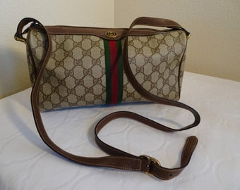 GORGEOUS 1980's 'Gucci, Accessory Collection' Handbag, Long Strap, Superb & A Rare Find!!