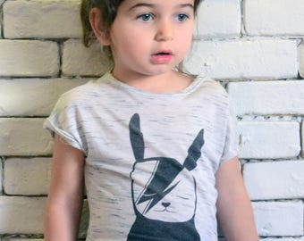 David Bowie tshirt//Cool Funny Graphic kids tee//Funky kids clothing//Rock kids//Band tshirt//Gift for kids//Unisex kids tshirt//Off White
