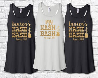 Bachelorette Party Shirts Bridal Party Nash Bash Nashville Bachelorette Flowy Racerback Bridesmaid