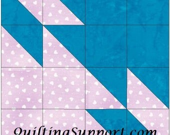 Star in Progress 15 Inch Block Paper Template Quilting Block Pattern PDF