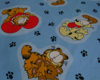 Vintage Garfield fabric remnant