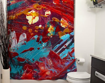 Comic Book Hero Printed Shower Curtain Bathroom Decor Home Abstract Modern Art