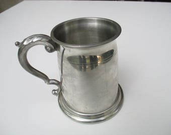 Pewter  Cup - Vintage Cups, Ornate Handle for Home Decor, Reenactments,  Festivals, Theatre Performances, Made In England, Marked