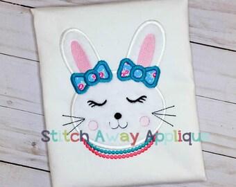 Classy Bunny Machine Applique Design