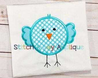 Spring Chick Bird Machine Applique Design