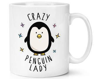 Crazy Penguin Lady 10oz Mug Cup