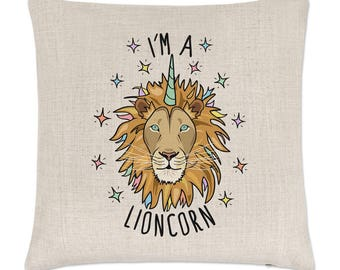 I'm A Lioncorn Linen Cushion Cover