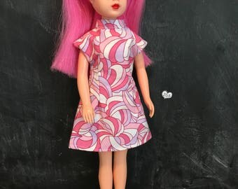 Groovy rerooted vintage Sindy, in the pink!