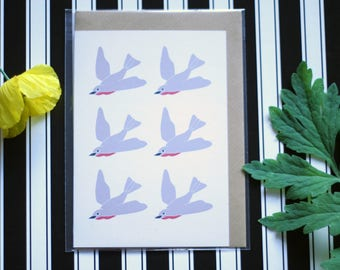 Robins - Ecofriendly Blank Greeting Card with Vegan Envelope - 100% Recycled Paper and Biodegradable Packaging
