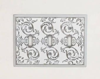 Light Switch Plate-24 Colors/Shabby Chic/Light Switch Cover/Switchplates/Switch Plate/Vintage Light Switch/The Shabby Store/Nursery