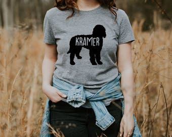 Personalized Goldendoodle Women's T-Shirt S M L XL Dog Mom Custom