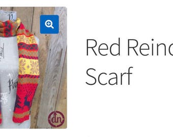 Red Reindeer Scarf Du North
