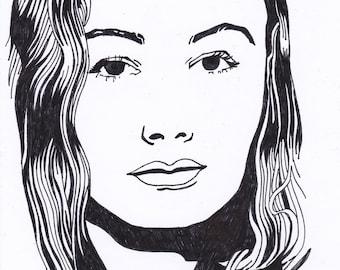 Veronica Lake - Hollywood star - original drawing
