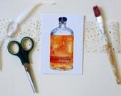 A6 Watercolour Bulleit Bourbon Blank Greeting Card