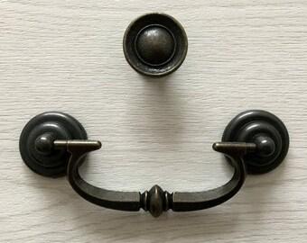 90 105 mm antik messing griffe t rgriffe t rgriff m bel griff. Black Bedroom Furniture Sets. Home Design Ideas