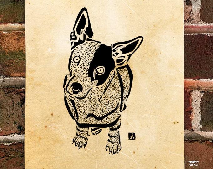 KillerBeeMoto: Limited Release Print of Jack Russell Terrier