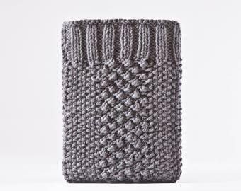 Gray iPad Mini Case, Knitted Kindle Paperwhite Case, iPad Mini 4 Case, Girlfriend Gift, Gifts for Mom, Gray iPad Air 2 Case, iPad pro 10.5