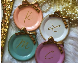 Personalized Ring Dish Personalized Bridesmaid Gifts Bridesmaid Jewelry Box Personalized Jewelry Dish Monogram Ring Dish