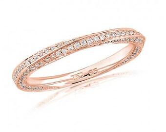18ct Rose Gold Full Diamond Eternity Ring