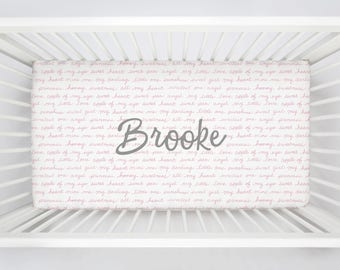 Personalized Crib Sheet by Carousel Designs.  Design your own crib sheet and baby crib bedding.  Made in the USA.