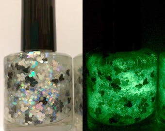 Nebula Mouse ~ 15 mL Full size bottle ~ Indie Nail Polish Glitter Lacquer