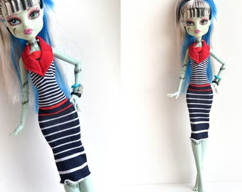 MH dress, Monster high clothes, MH outfit, MH doll, doll dress
