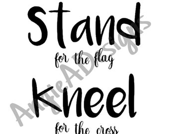 Stand and Kneel SVG