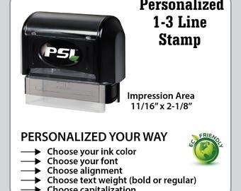 Custom & Personalized 3 line Business Stamp, Custom Address Stamp, Personalized Stamp, Custom Stamp, Return Address Stamp   CS1854