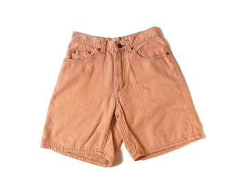 Vintage Lee Orange High Waist Shorts