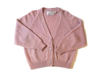 Vintage Baby Pink Pastel Grunge Cardigan