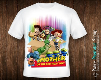 Toy Story Shirt Iron On, Toy Story Shirt Boy, Toy Story Birthday Shirt Boy, Iron On Transfer Big Brother, Iron On Transfer Birthday, IT-01