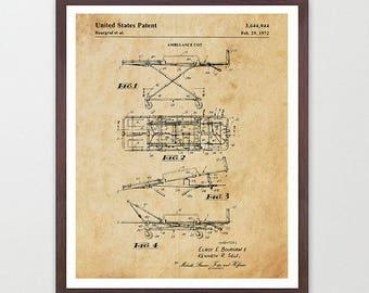 EMT Patent Art - Ambulance Poster - Paramedic - Paramedic Poster - Paramedic Patent - Nurse - Doctor - Hospital Art - EMT - EMT Poster