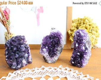 15% off Christmas in July Amethyst Cut Base Cluster - 1 lb to 2 lbs home decor- Crystal Collection - Meditation Altar (RK151B3)