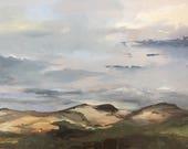 Dune landsape, plein air, original oil painting 30x40 cm