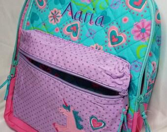 Personalized Unicorn Backpack, Unicorn Back Pack, Kindergarten Unicorn Back pack, preschool backpack