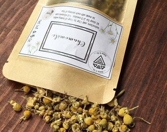 Organic Chamomile Flowers, Fresh Dried Herb, Organic Tea, Herbal Loose Leaf Tea, Sleep Herb, Dried Herbs, Dried Chamomile, Relaxing Tea