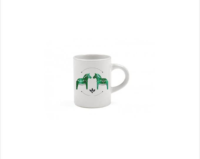 Green Dala Horse Espresso Mug