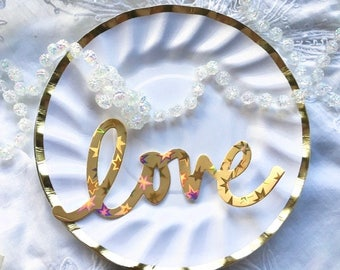 Paper Plates - Bridal Shower - Baby Shower Plates - Party Plates - Cake Plates - Wedding - Birthday Party - Dessert Plates - White and Gold