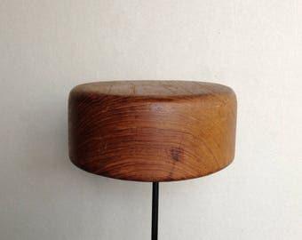Millinery Hat Block, Wood Hat Form, Mini Pillbox Fascinator Repurposed Wood Bowl Hat Block