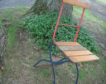 SALE vintage  chair /  vintage bistro  folding chair / french cafe fold up chair beergarden