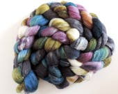 Shetland Silk Castle Mouse,120gr handpainted top-roving for spinning and felting