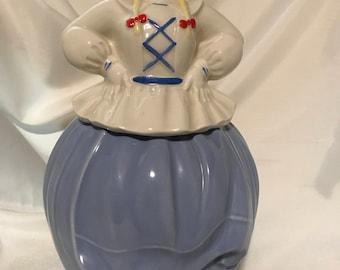 Pottery Guild Dutch Girl Cookie Jar Mid Century Vintage