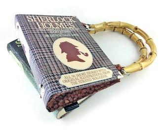 "Sherlock Holmes Handbag, Sir Arthur Conan Doyle, Sherlock gift, Sherlock fan, Detective novel, ""Excellent!"" I cried. ""Elementary,"" said he."""