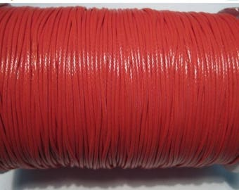 50% OFF Clearance Sale-- Red Korea Wax Cotton Cord Bracelet Necklace Cord 1mm