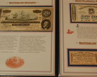 CONFEDERATE Money Uncirculated  and Stamps-1863/1864-GEM- Read Desc. and use zoom